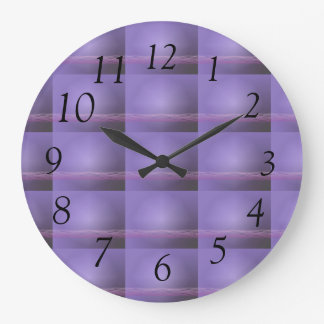 Purple Lights Clock