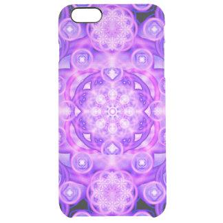 Purple Lights Mandala Clear iPhone 6 Plus Case
