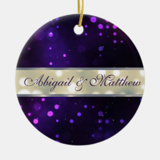 Purple Lights Personalized Christmas Ornament