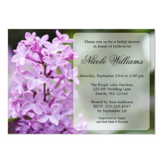 Purple Lilac Blossoms Bridal Shower Card