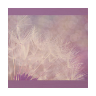 Purple Lilac Dandelion Bohek Wood Canvas
