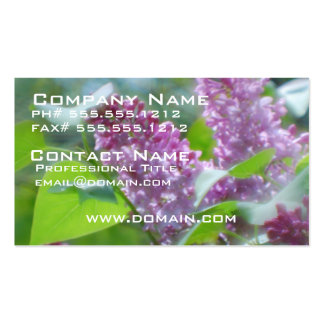 Purple Lilac Flowers Business Card