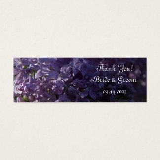 Purple Lilac Flowers Wedding Favor Tags Mini Business Card