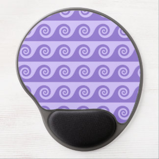 Purple, Lilac Sea Waves Pattern, Nautical Inspired Gel Mousepad
