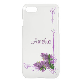 Purple Lilacs iPhone 7 Clearly™ Deflector Case