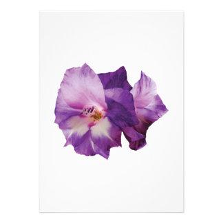 Purple Lilies Custom Invitations