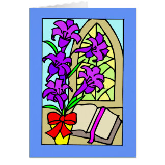 Purple Lillies For Easter Card