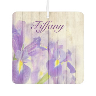 Purple lily beauty car air freshener