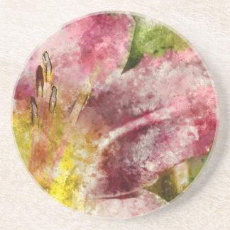 Purple Lily Close Up Coasters