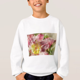 Purple Lily Close Up Sweatshirt