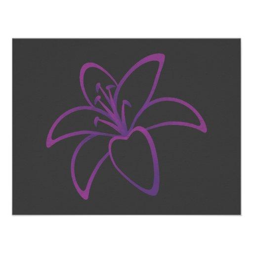Purple Lily Invitation