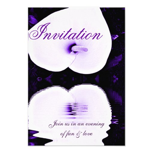 Purple Lily,Invitation of Love_ Personalized Invite