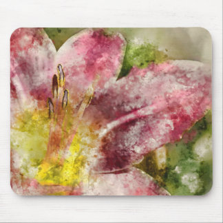 Purple Lily Mouse Pad