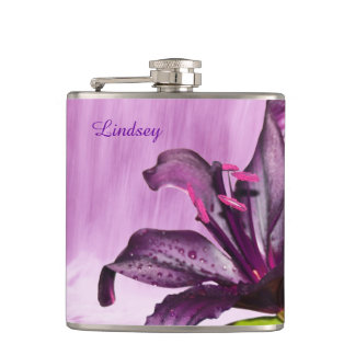 Purple Lily with Waterfall Flasks
