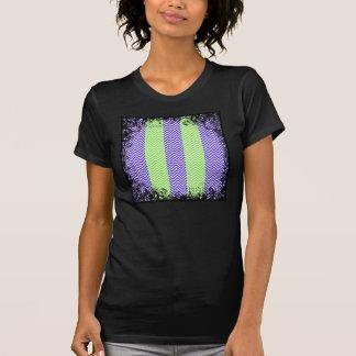 Purple Lime Green Striped Chevron Summer Zig Zags Tshirts