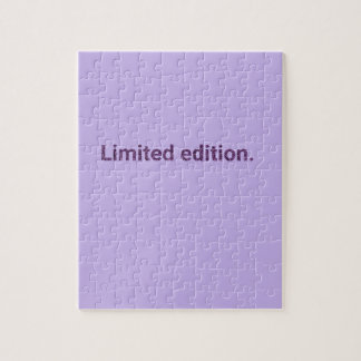 Purple Limited Edition Jigsaw Puzzle