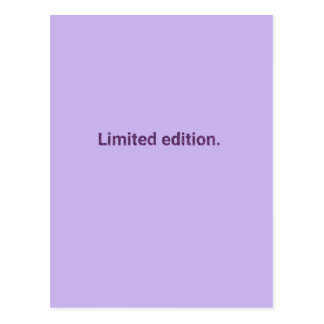 Purple Limited Edition Postcard