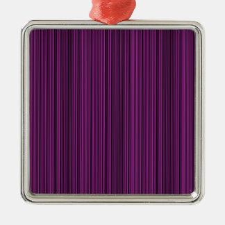 Purple lines Silver-Colored square decoration