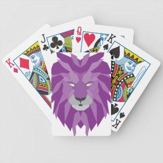 purple lion vektor art poker deck