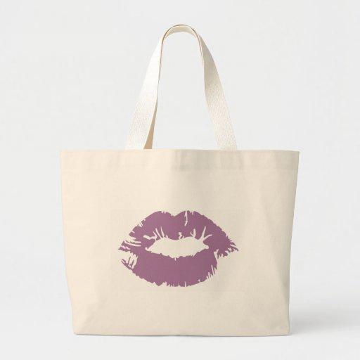 Purple Lipstick Canvas Bags