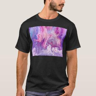 Purple Liquid Marbled Agate T-Shirt
