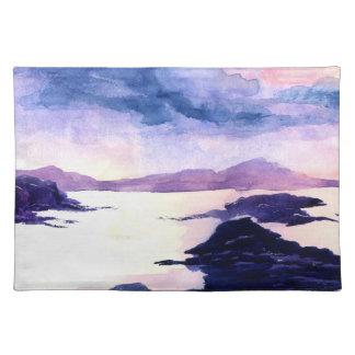 Purple Loch Lomond Watercolour Painting Placemat