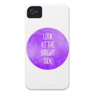 Purple Look at the Bright Side iPhone 4/4s Case