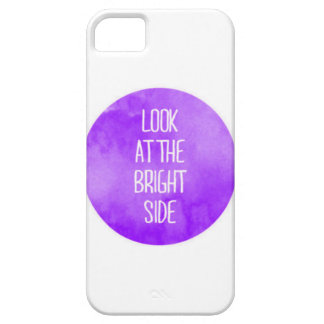 Purple Look at the Bright Side iPhone 5 Case