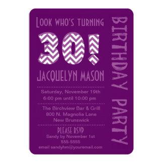 Purple Look Who's Turning 30 Birthday Invitation
