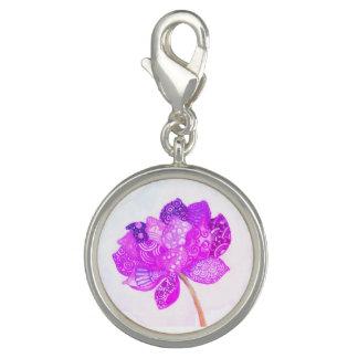 Purple Lotus Charm