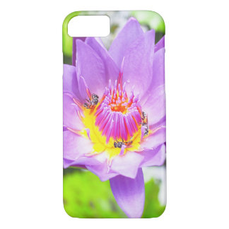 Purple lotus floral phone case for iPhone/Samsung