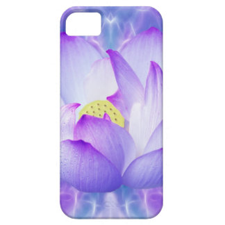 Purple lotus flower and fractal crystals iPhone 5 covers
