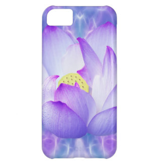 Purple lotus flower and fractal crystals iPhone 5C case