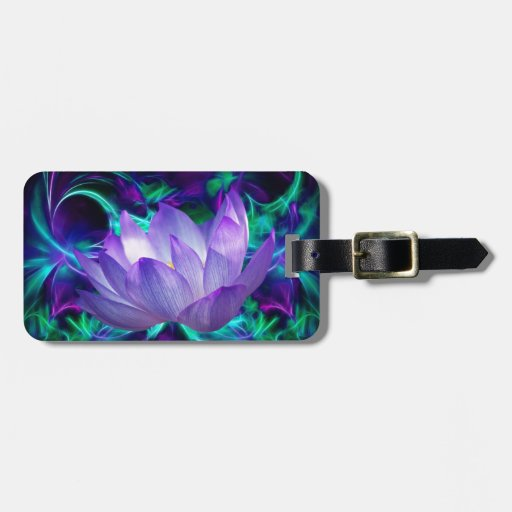 Purple lotus flower and its meaning tags for bags
