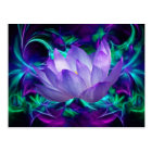 Purple lotus flower and its meaning postcard