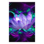 Purple lotus flower and its meaning personalised stationery
