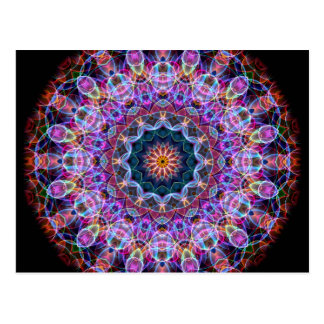 Purple Lotus kaleidoscope Postcard