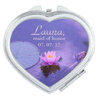 Purple Lotus Maid of Honor Makeup Mirrors