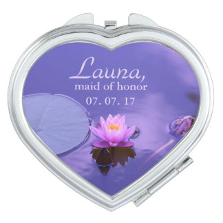 Purple Lotus Maid of Honor Travel Mirror