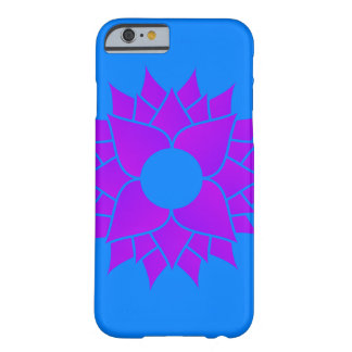 Purple Lotus on Blue Centered Barely There iPhone 6 Case