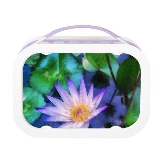 Purple Lotus Watercolor Lunch Box