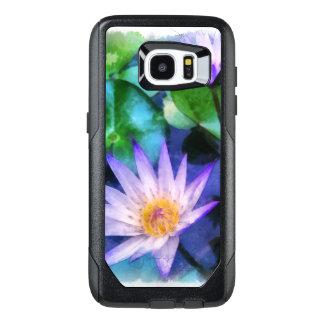 Purple Lotus Watercolor OtterBox Samsung Galaxy S7 Edge Case