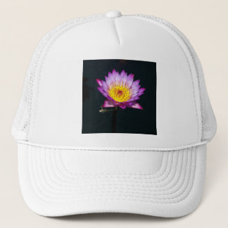 Purple Lotus Waterlily and Dragonfly Nymph Hat