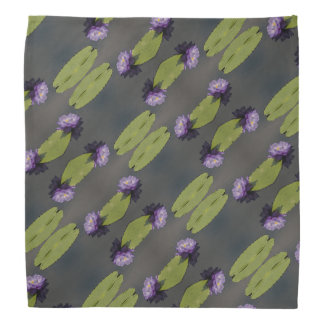 Purple Lotus Waterlily Bandana