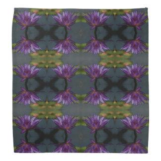 Purple Lotus Waterlily Bandana
