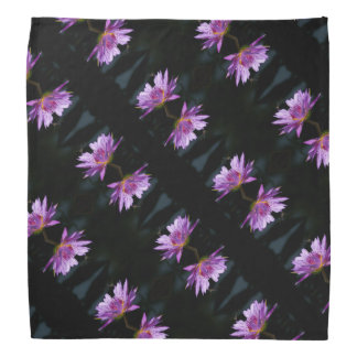 Purple Lotus Waterlily & Dragonfly Bandana
