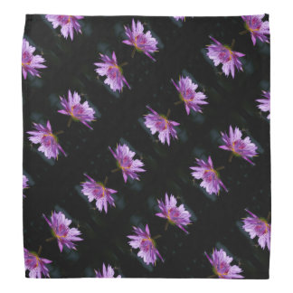 Purple Lotus Waterlily & Dragonfly Bandana
