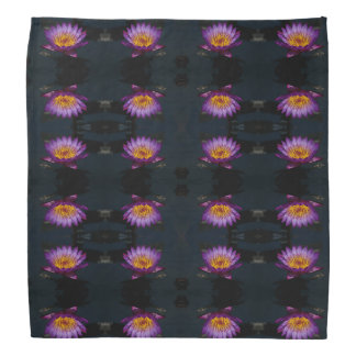 Purple Lotus Waterlily & Dragonfly Nymph Bandana