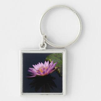 Purple Lotus Waterlily Keychain