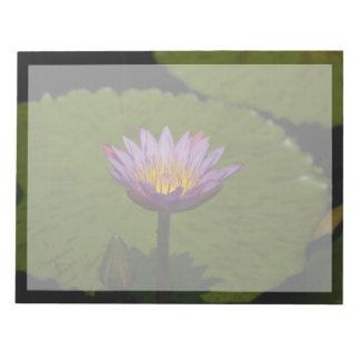 Purple Lotus Waterlily Notepad